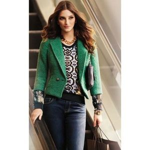 Cabi Ivy Wool Blend Boucle Knit Blazer
